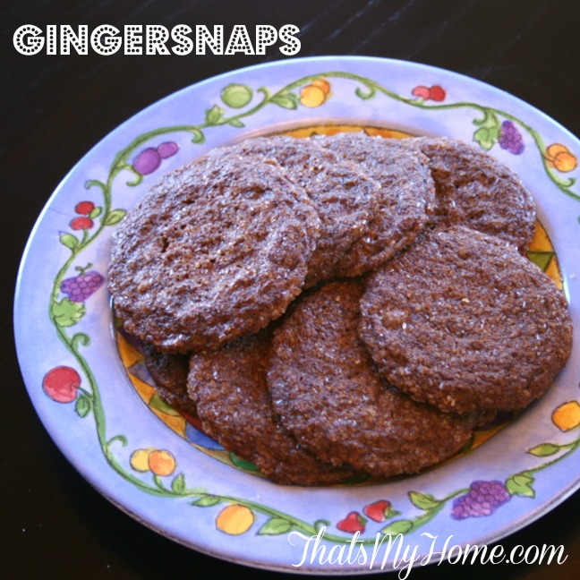 gingersnaps cookie recipe from recipesfoodandcooking.com