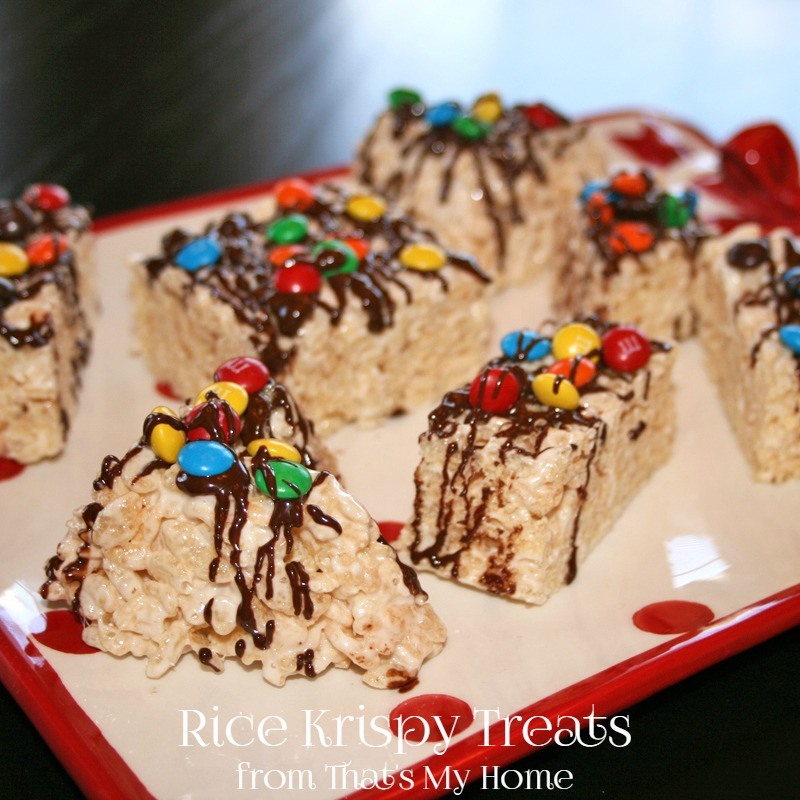 Rice Krispy Treats with M&M's