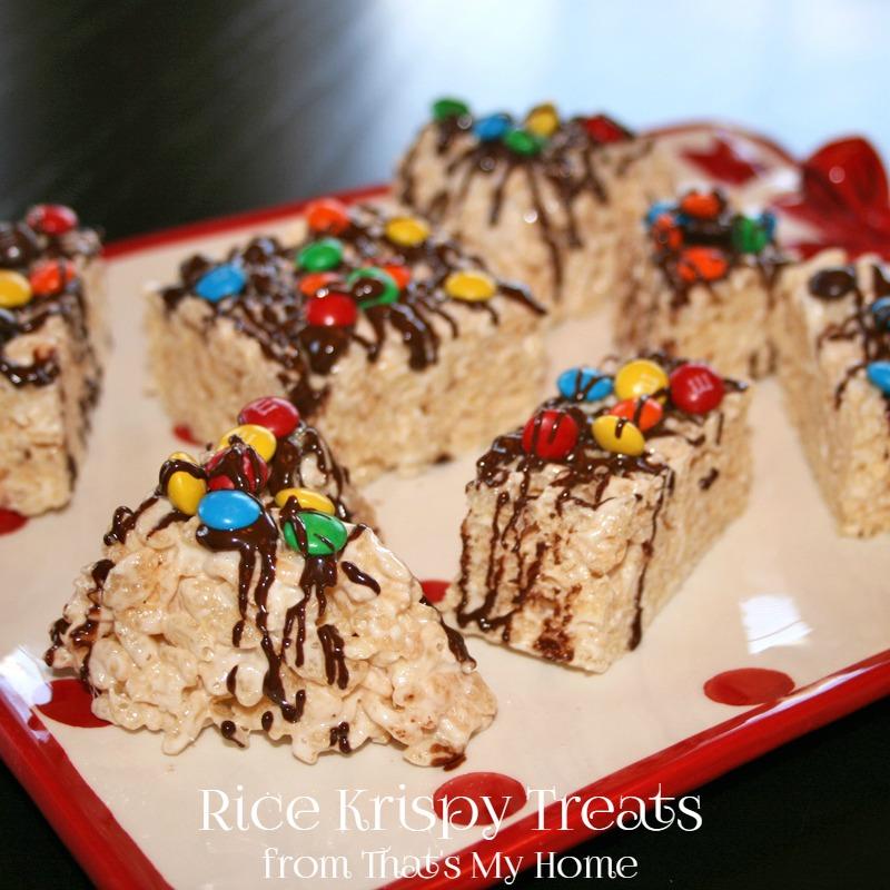 Rice Krispy Treats with M&M's