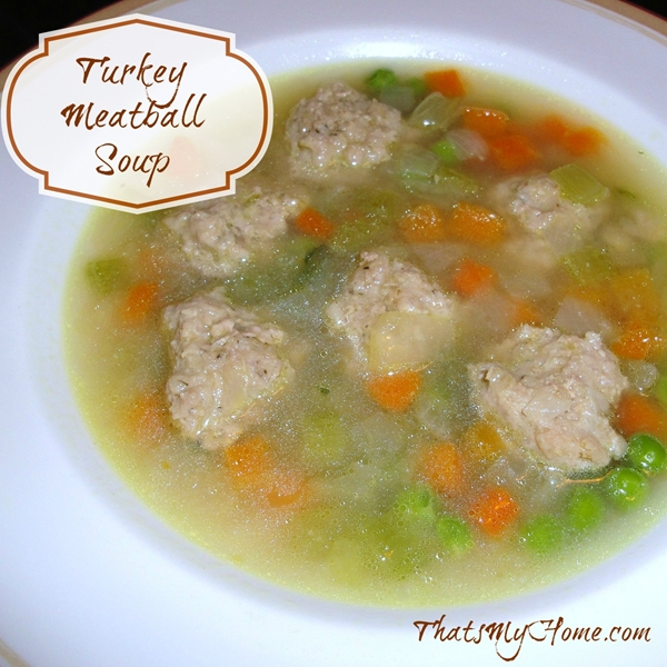 turkey meatball soup from recipesfoodandcooking.com