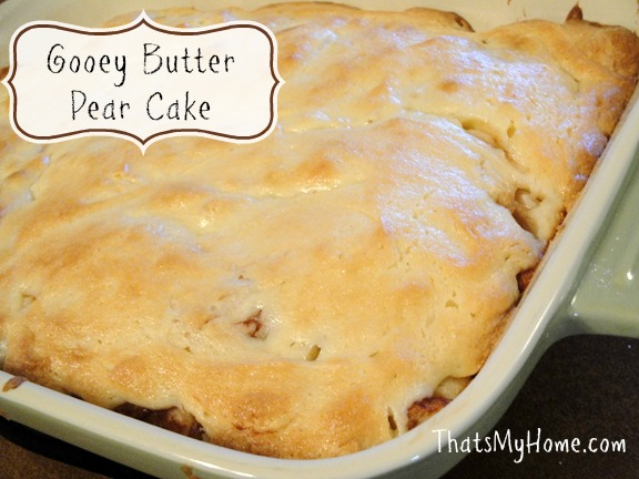 gooey butter pear cake recipe
