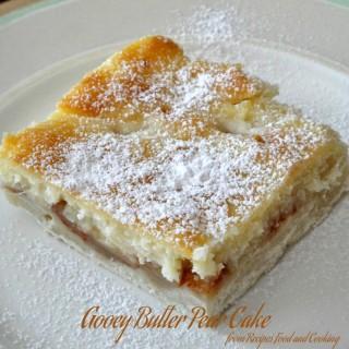 Gooey Butter Pear Cake