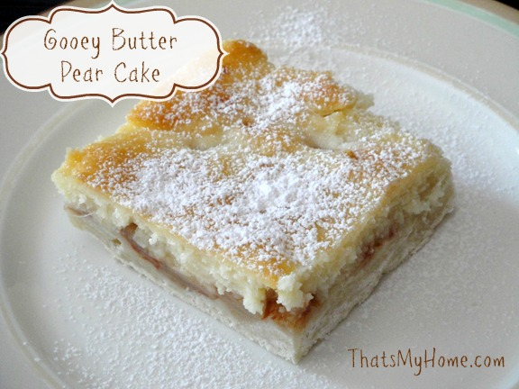 gooey butter pear cake recipe