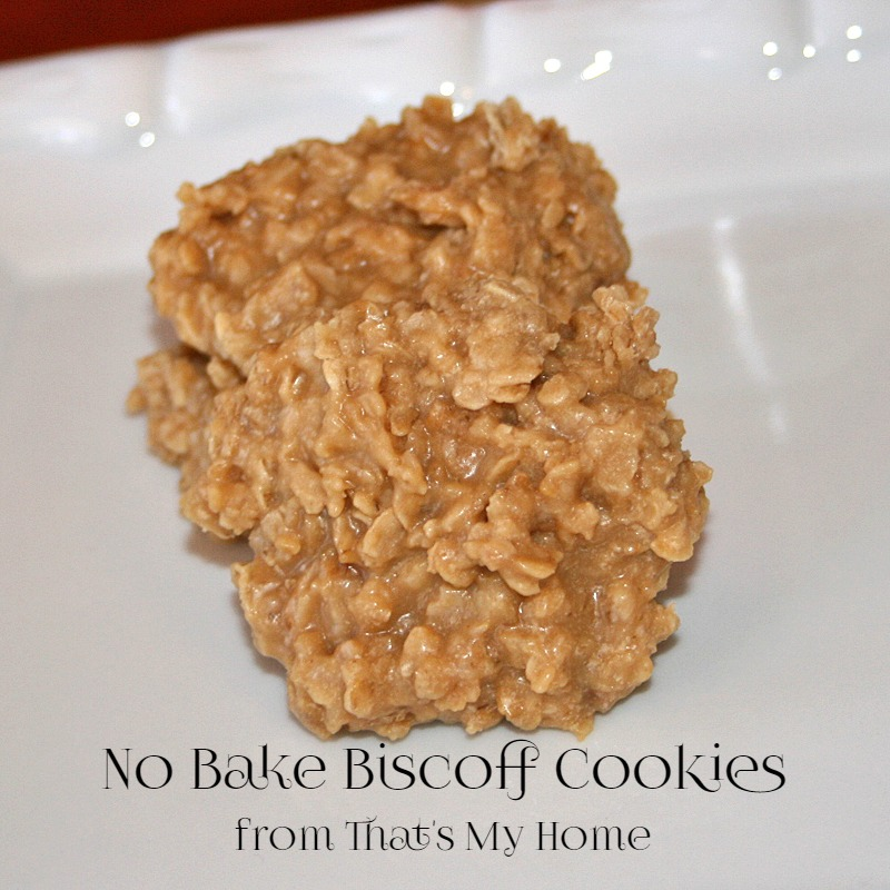 No Bake Biscoff Cookies - Recipes Food and Cooking