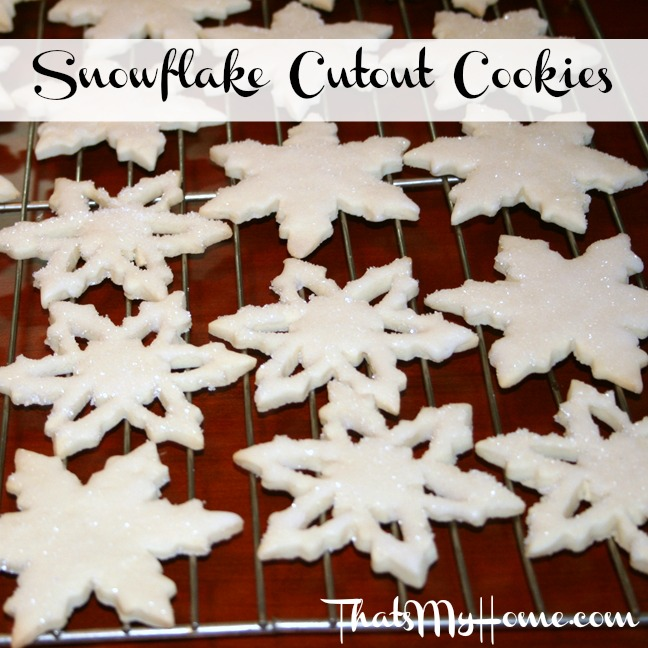 snowflake cutout cookie recipe from recipesfoodandcooking.com