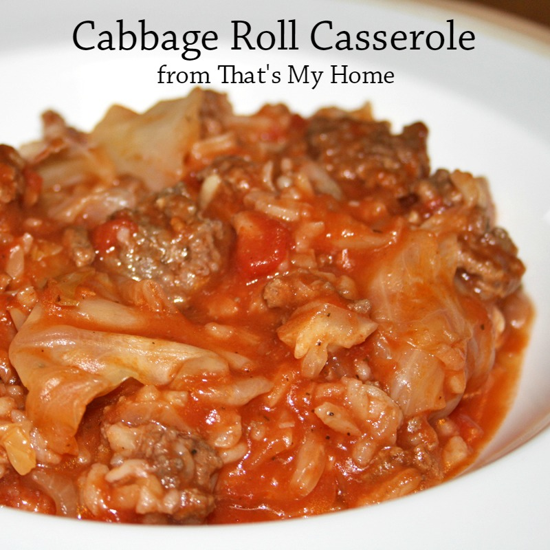 Cabbage Rolls Casserole Recipes Food And Cooking