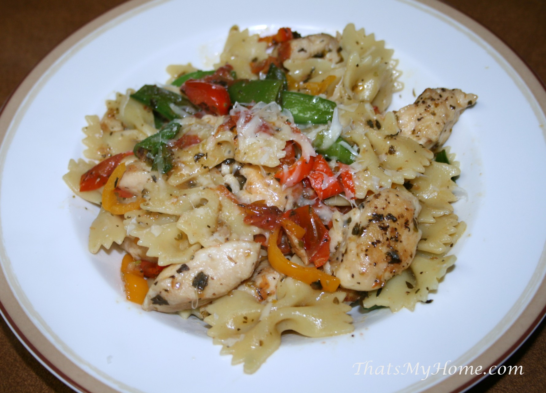 chicken with bow tie pasta recipes food and cooking