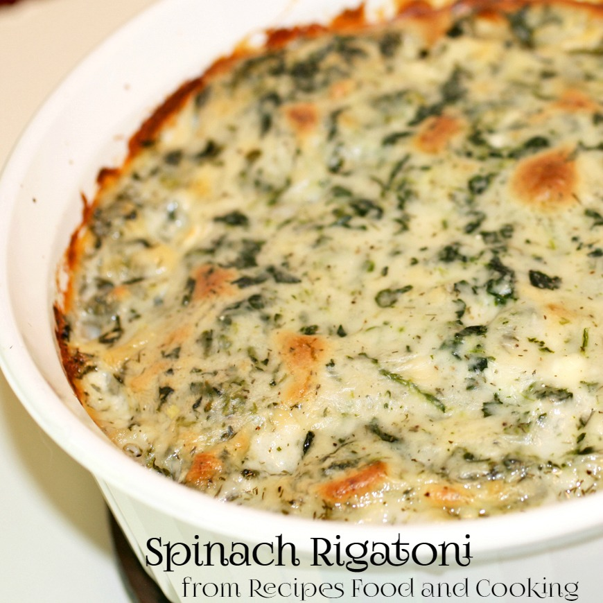 Creamy Spinach Rigatoni