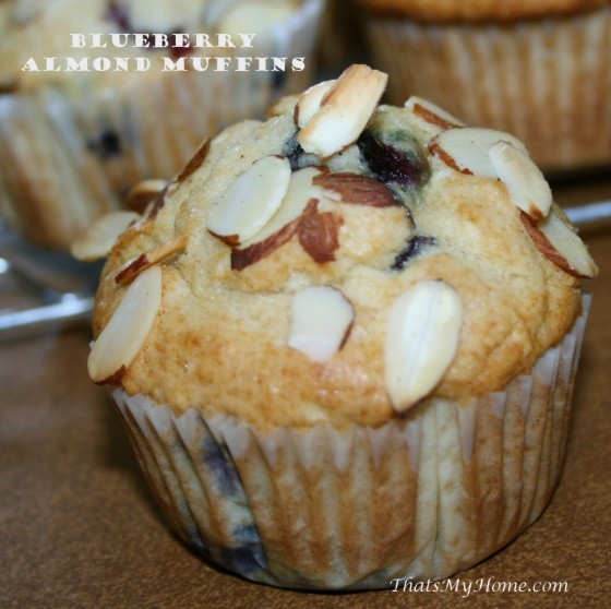 blueberry-almond-muffin