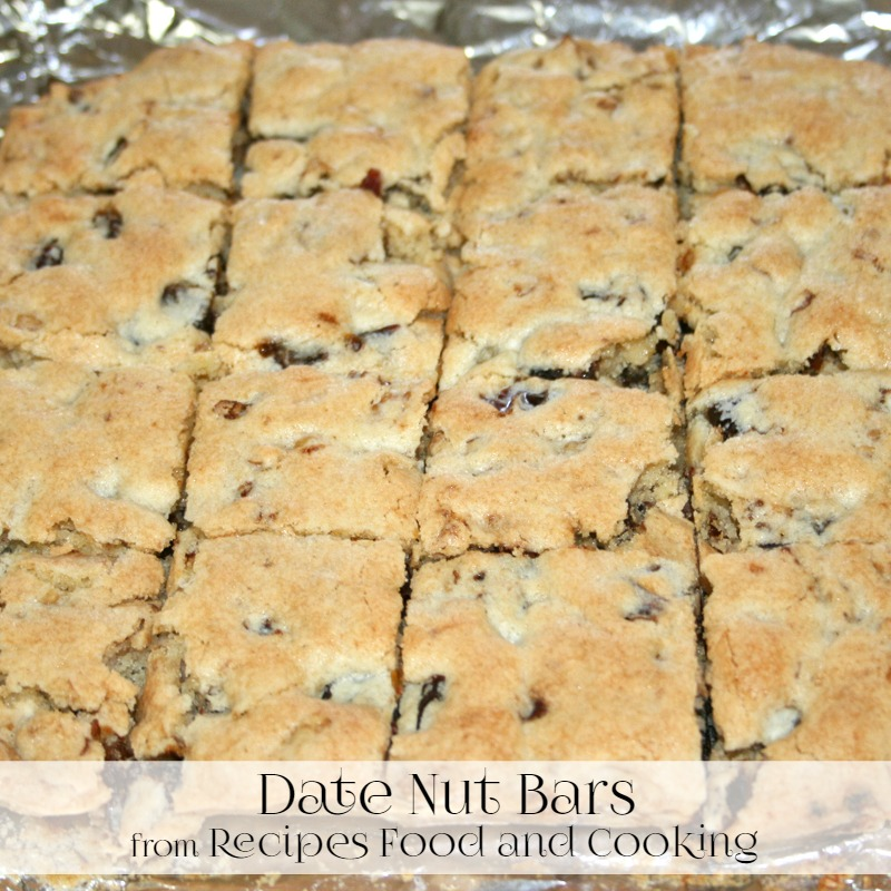Date Nut Bars Cake Mix