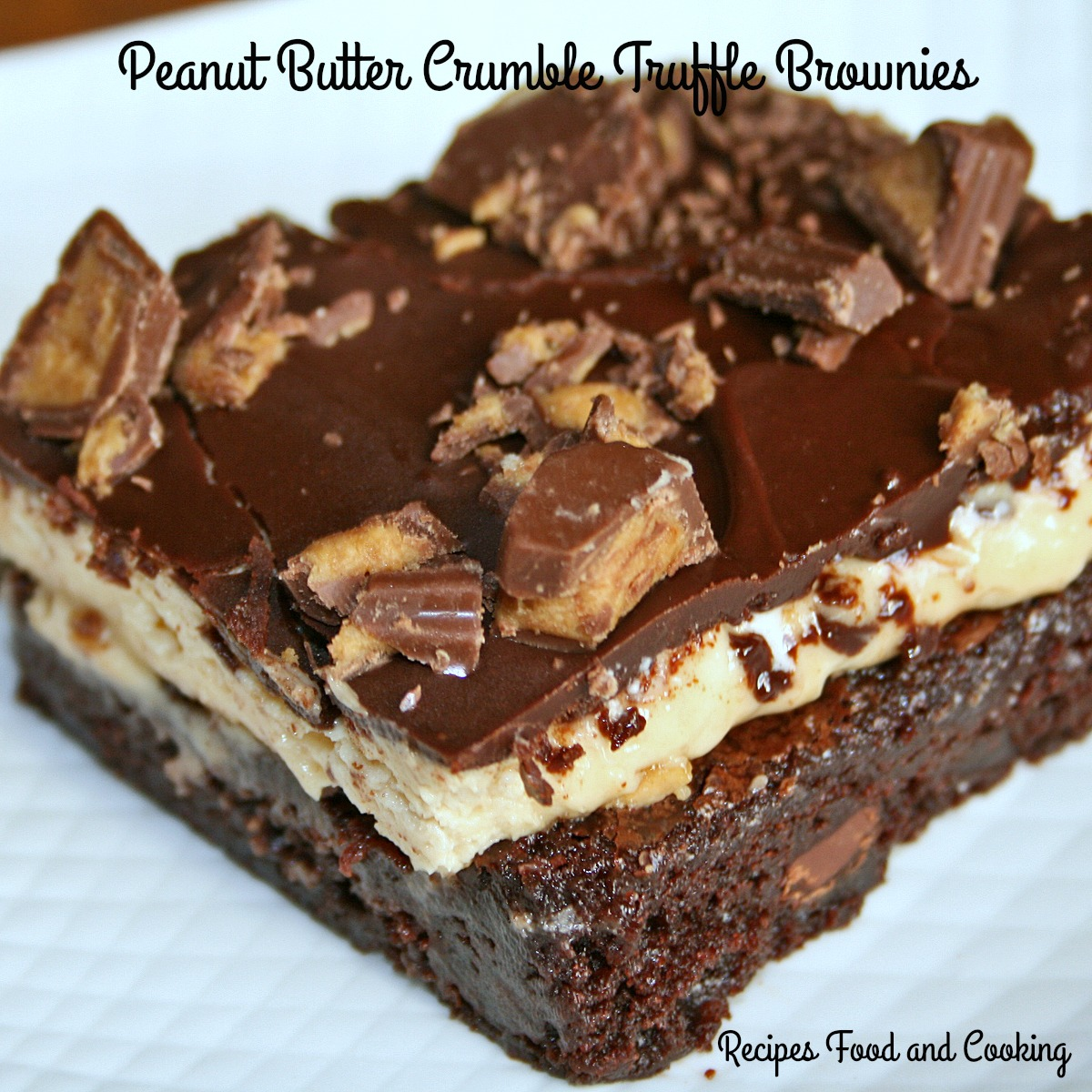 Peanut Butter Crumble Truffle Brownies