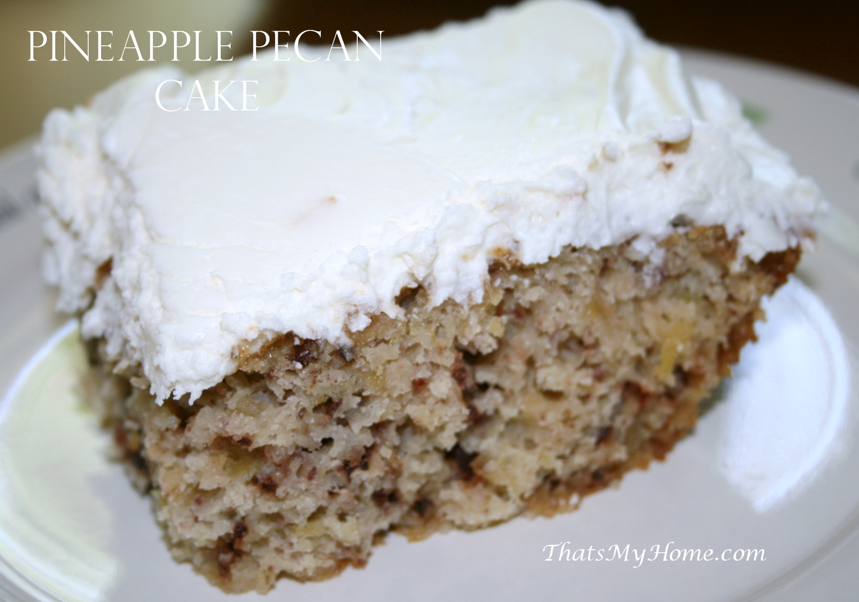 Pineapple Pecan Cake With Cream Cheese Frosting Recipes