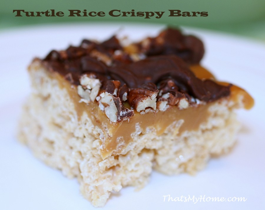 Turtle Rice Krispy treats