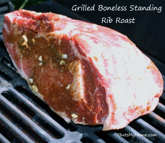 Grilled Boneless Standing Rib Roast - Recipes Food and Cooking