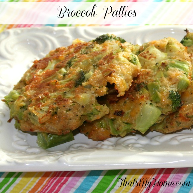 broccoli patties from recipes, food and cooking.com