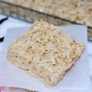 Browned Butter Vanilla Bean Rice Krispy Treats