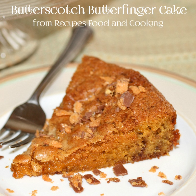 Butterscotch Butterfinger Cake