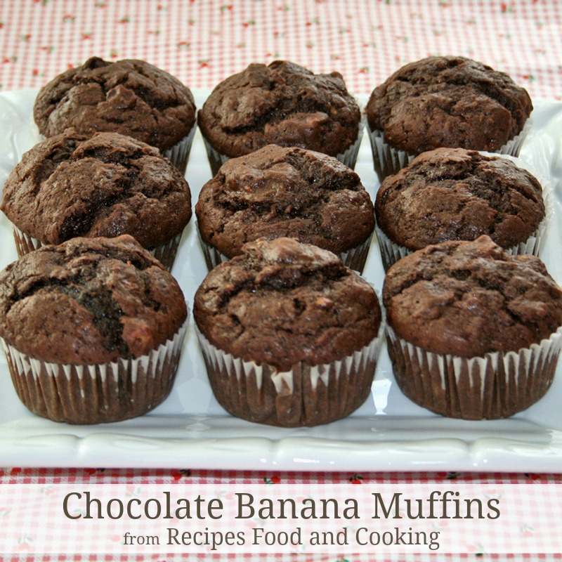 Chocolate Banana Muffins - Recipes Food and Cooking