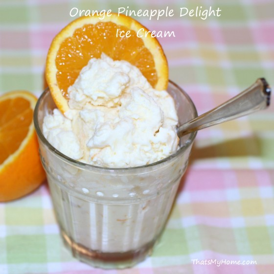 Orange Pineapple Delight Ice Cream