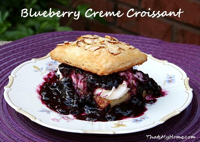 Blueberry Creme Croissants