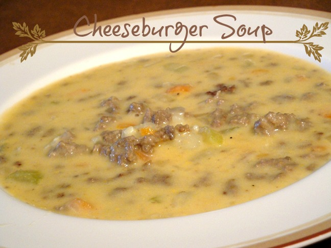 cheeseburger soup recipe from recipesfoodandcooking.com