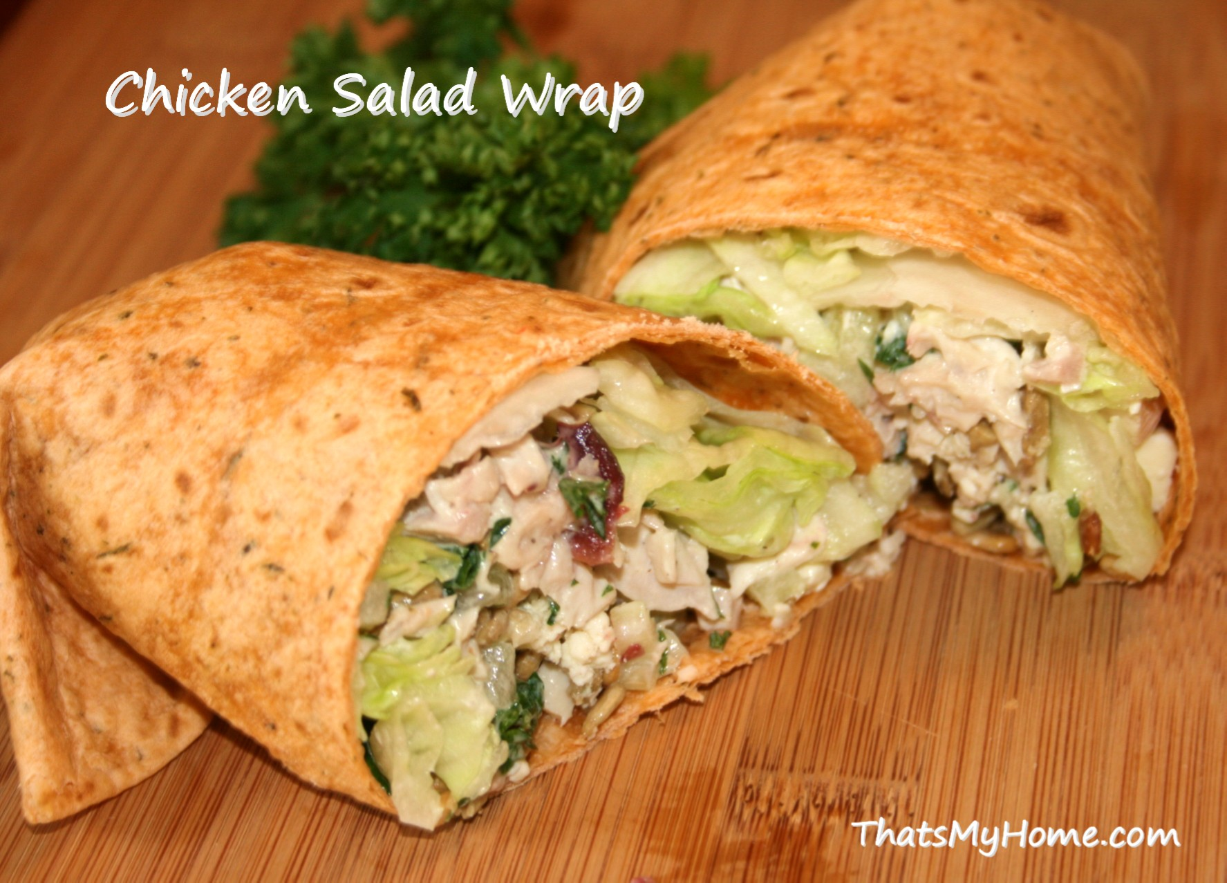 Chicken salad wrap recipe easy homemade chicken salad wraps let
