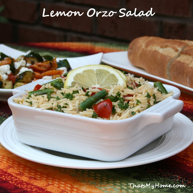 lemon orzo salad recipe