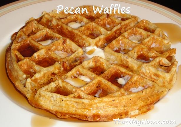 pecan waffle recipe