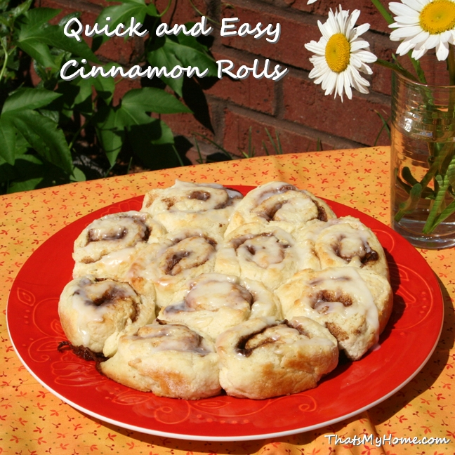 quick cinnamon rolls recipe