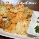 Ranch Roasted Cauliflower