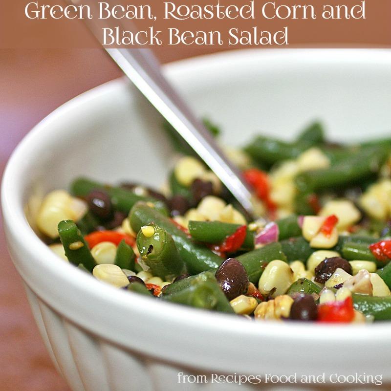 Green Bean, Roasted Corn and Black Bean Salad