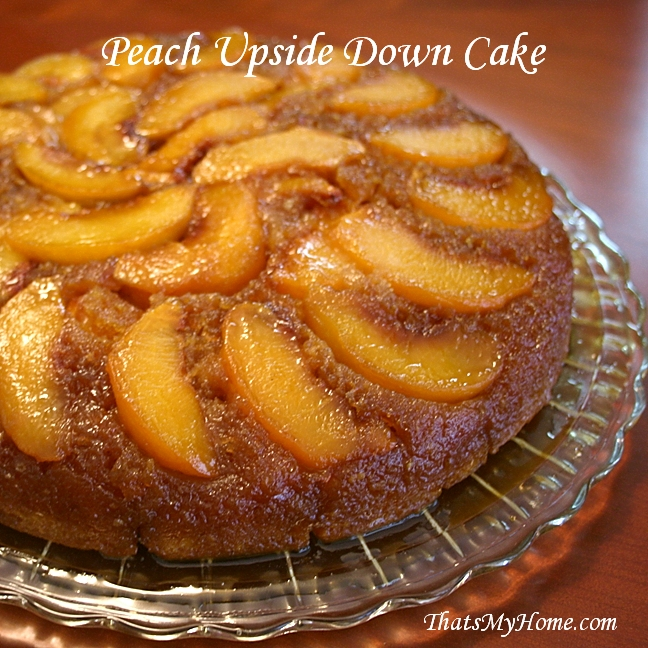 Peach Upside Down Cake Recipe Using Cake Mix