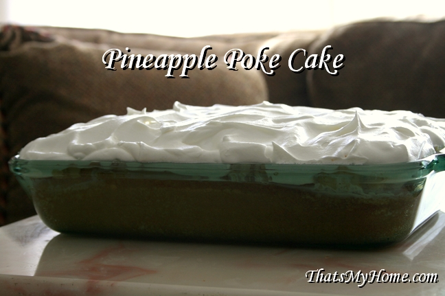 pineapple poke cake recipe