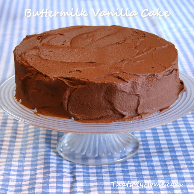 Buttermilk Vanilla Cake With Old Fashioned Chocolate