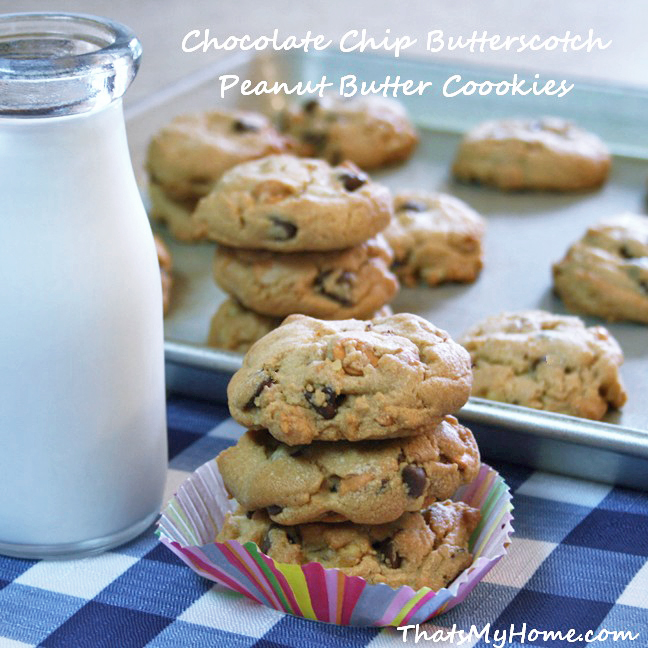 Chocolate Chip Butterscotch Peanut Butter Cookies - Recipes Food and ...