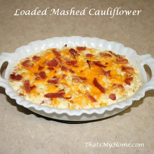 loaded mashed cauliflower recipe