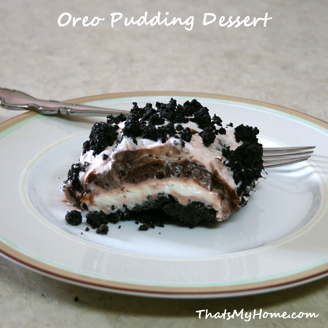 Chocolate Pudding Cake With Oreo Crust