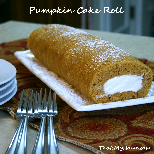 Pumpkin Cake Roll - Recipes Food and Cooking