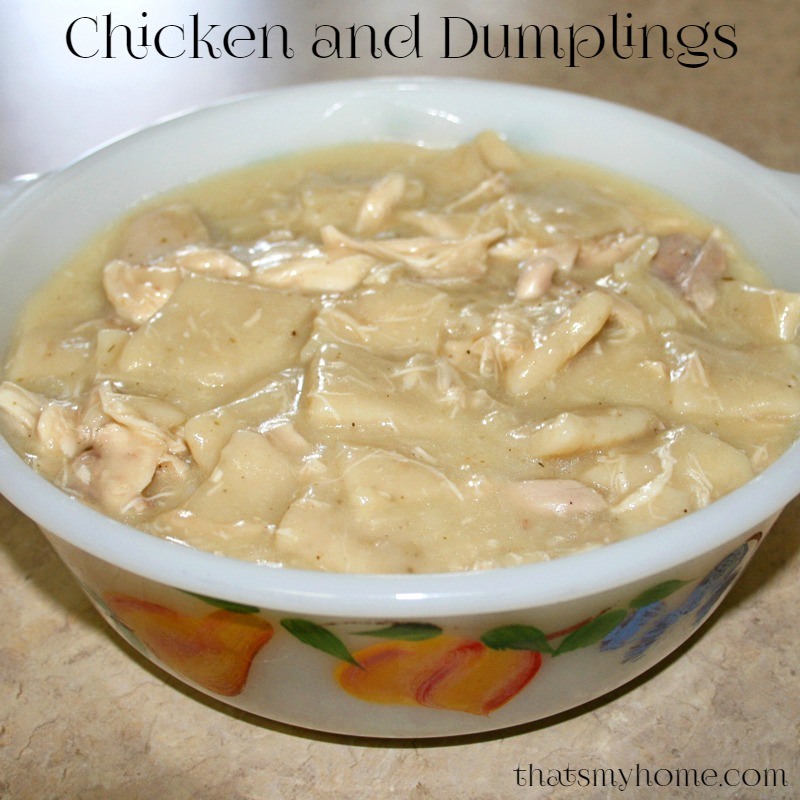 Chicken and Dumplings - Recipes Food and Cooking