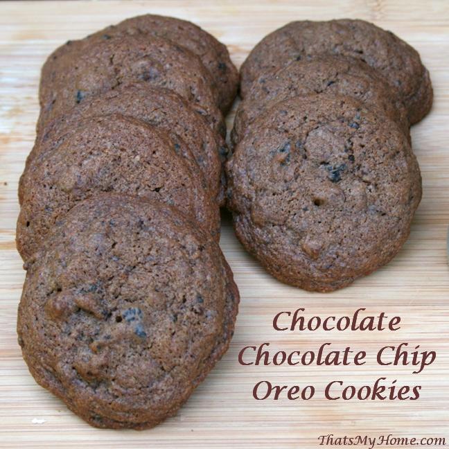 Chocolate Chocolate Chip Oreo Cookies recipe