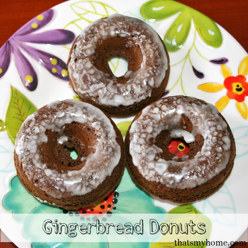 Baked Gingerbread Donuts