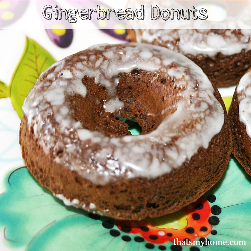 Baked Gingerbread Donuts - Recipes Food and Cooking