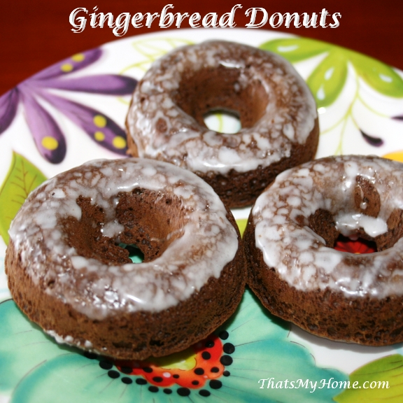 Recipes, Food and Cooking Baked Gingerbread Donuts ...