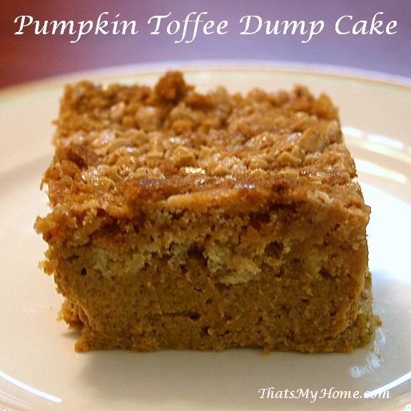 Pumpkin Toffee Dump Cake recipe