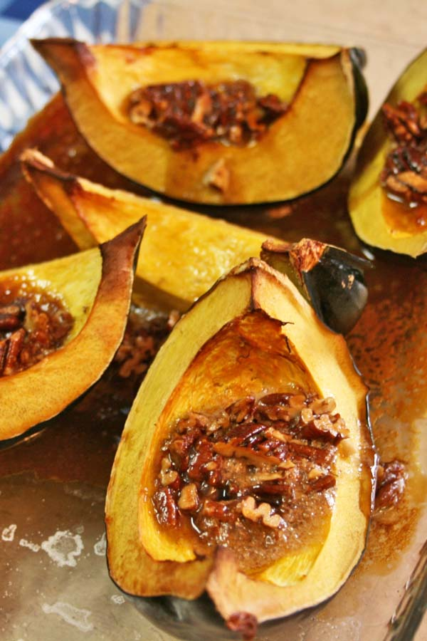 Acorn Squash with Pecan Butter