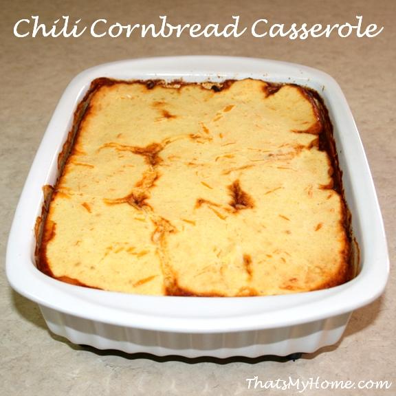 chili and cornbread casserole recipe