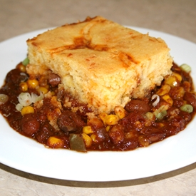 chili and cornbread casserole recipe