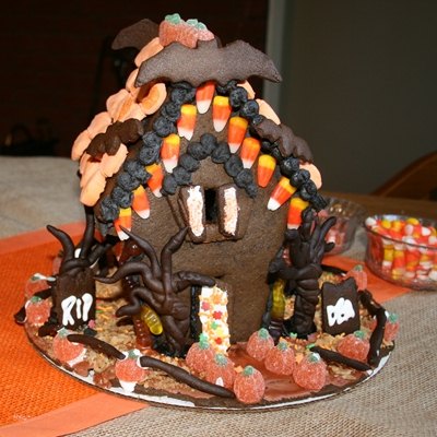 halloween gingerbread house recipe