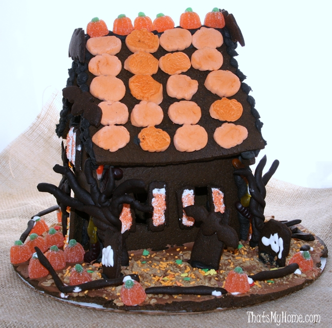 Halloween Gingerbread House - Recipes Food and Cooking
