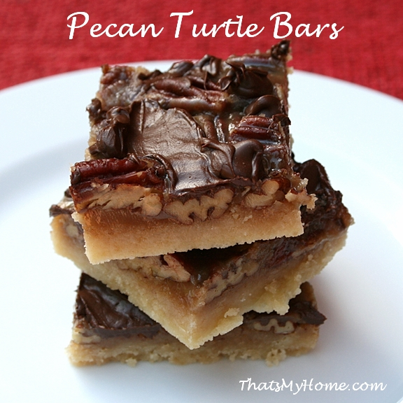 Pecan Turtle Bars Recipe — Dishmaps